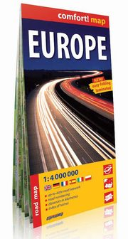 Europe road map 1:4 000 000,