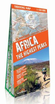 ksiazka tytuł: Africa the highest peaks 1:150 000 trekking map autor: