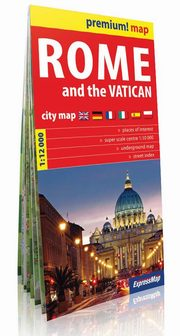 Rome and the Vatican city map 1:12 000,