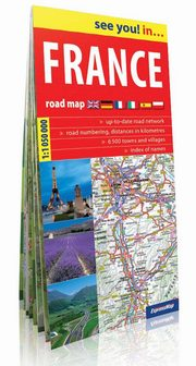 France road map 1:1 050 000,