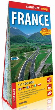 France road map 1:1100 000 laminowana mapa drogowa,