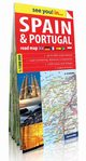 Spain and Portugal see you! in papierowa mapa samochodowa,